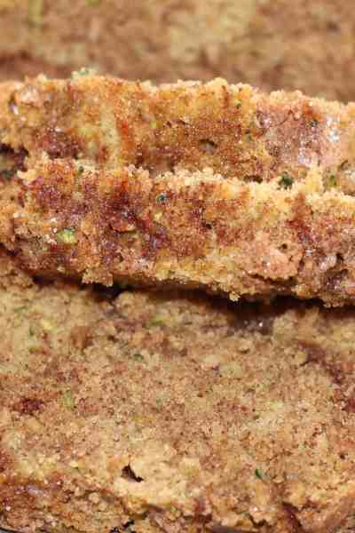 Snickerdoodle Zucchini Bread with Coconut Oil