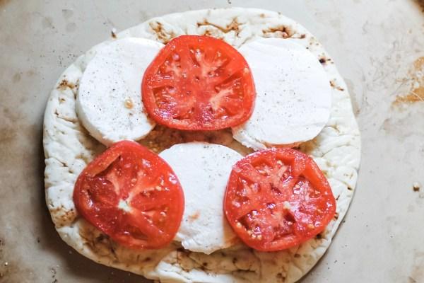Uncooked Margarita Naan Pizza