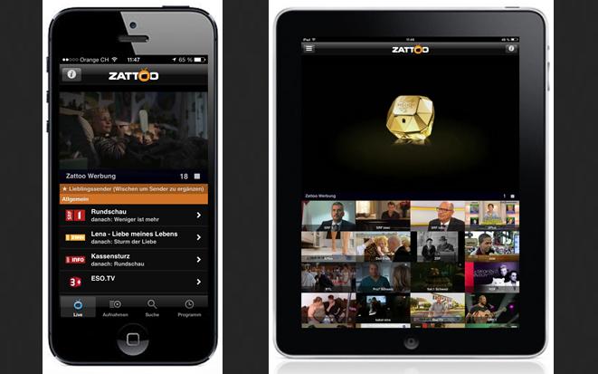 Zattoo iPhone & iPad