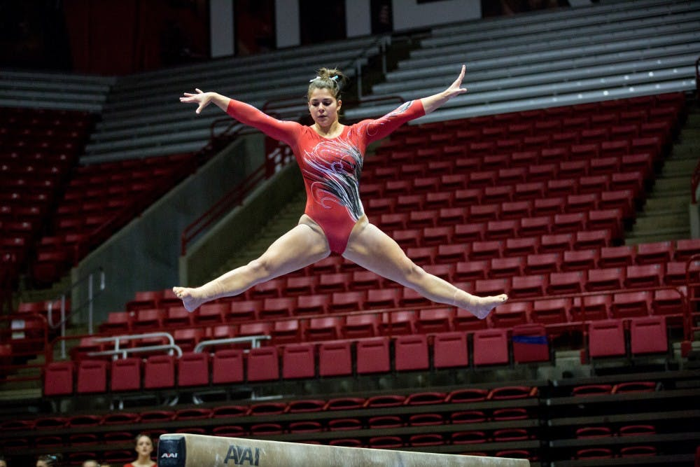 Gymnastics 42 Years Of Competition Ball State Daily