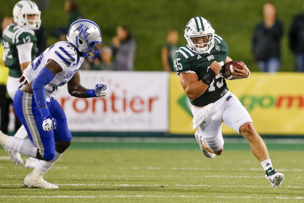Football: Ohio throttles Hampton 59-0 to win first game of season
