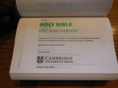 cambridge kjv, holman ministers kjv and funky lil kjv 105