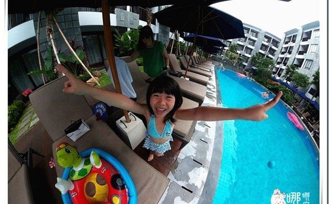 【峇里島 住宿】完全就是一個放鬆的節奏~courtyard Marriott Seminyak Hotel/水明漾萬怡酒店/大游泳池/lung Bar/好吃的自助式早餐