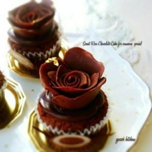 バレンタイン薔薇チョコケーキ