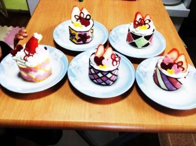 バレンタインチョコマフィンケーキ
