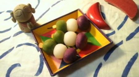 手作り 三色団子紅芋 レシピ