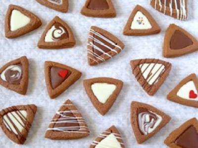 バレンタイン 三角チョコクッキー