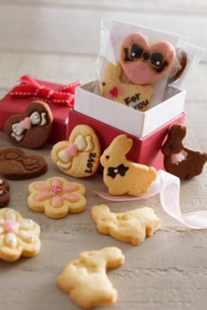バレンタイン型抜きクッキー