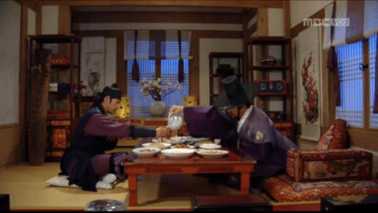 獄中花(オクチュンファ)第23話 ソソルで話すユン・ウォニョンとユン・テウォン