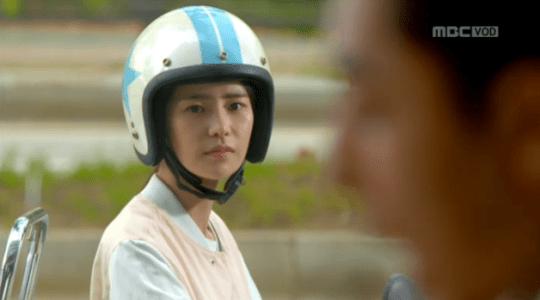 吹けよ、ミプン第7話 バイクに乗っているキム・ミプン