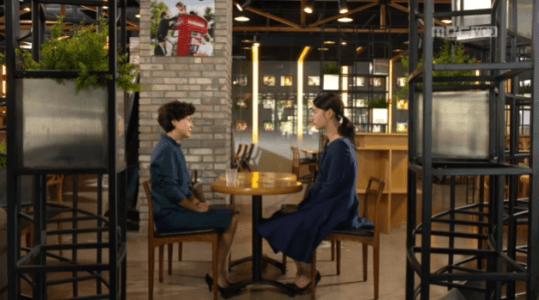 吹けよ、ミプン第19話 喫茶店でキム・ミプンとファン・クムシル