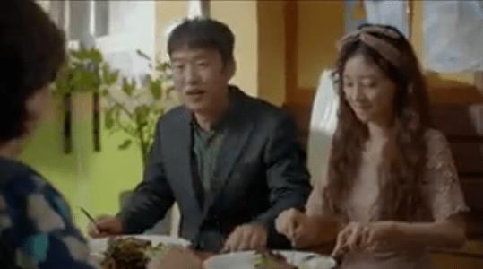 韓国ドラマ「サム、マイウェイ」10話 ペク・ソリの実家で食事する