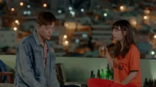 韓国ドラマ「サム、マイウェイ」11話 屋上で飲むコ・ドンマン