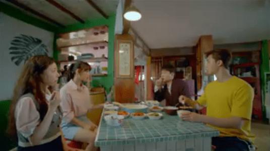 韓国ドラマ「サム、マイウェイ」7話 朝ご飯を食べるコ・ドンマン