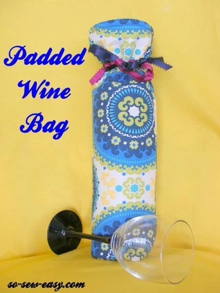 Padded Wine Bag - Free Sewing Pattern