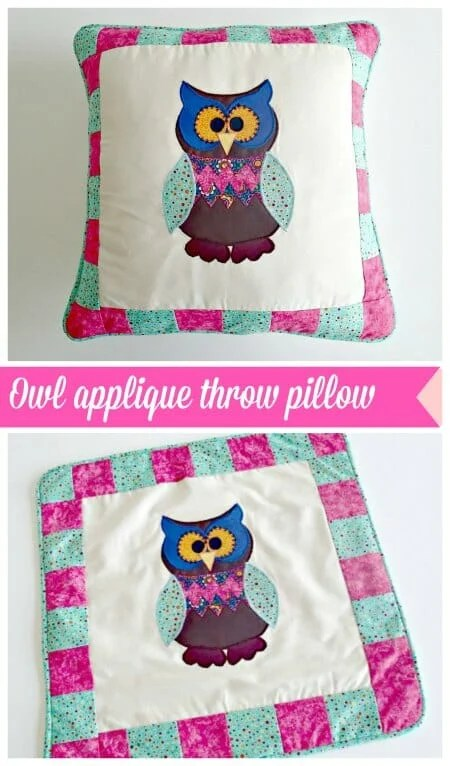 oliver the owl nursery pillow with