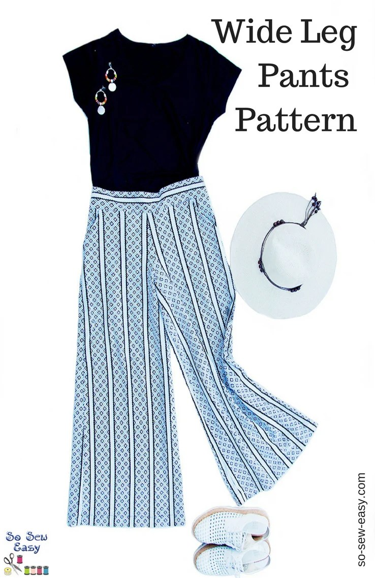 Wide Leg Pants for Women - Free Sewing Pattern