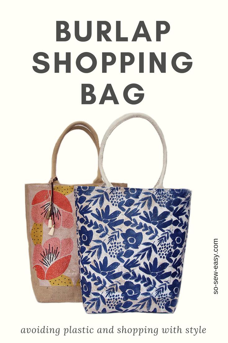 Burlap Shopping Bag - Free Sewing Pattern