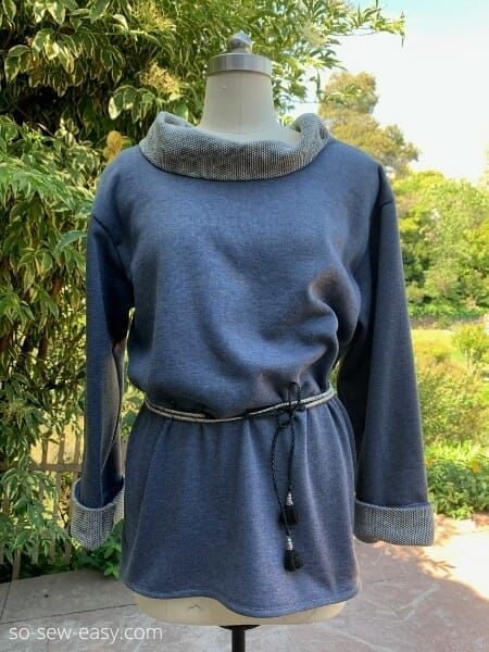 Cowl Neck Pullover Top - Free Sewing Pattern