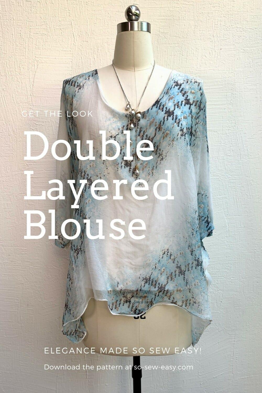 Double Layer Chiffon Blouse - Free Sewing Pattern