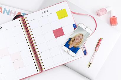 planner open on desk