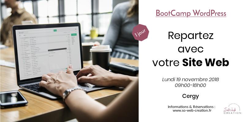 BootCamp WordPress : Repartez avec votre site web