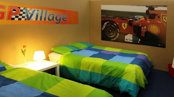 F1 Hotel-Camp für GP von Belgien Zimmeransicht
