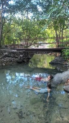 Fluss bei den Hot Springs