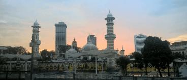 Moschee im Abendrot