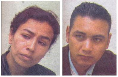 Jazmín Marín y Rafael Penagos, padres de la pequeña Allison.