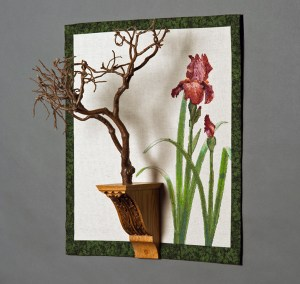 Bonsai with Irises