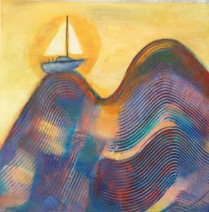 7. Jane Dennis Charting A Course Mixed Media 15 x 15 Retail value $275.
