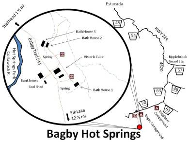 Bagby Hot Springs Area Map