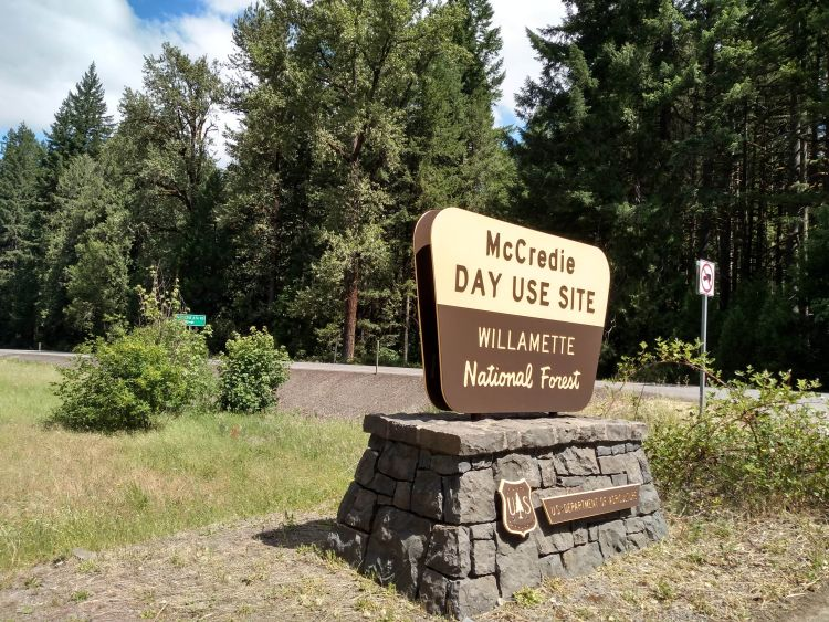 McCredie Hot Springs Sign