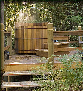 McKenzie Hot Springs Cottage Hot Tub