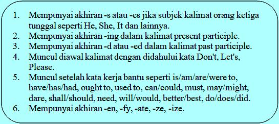 Ciri-ciri verb
