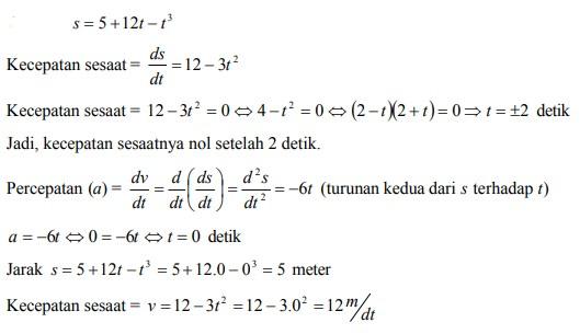 Sistem bilangan, pertaksamaan dan koordinat kartesius; Contoh Soal Aplikasi Turunan Diferensial Dan Jawaban Pembahasan