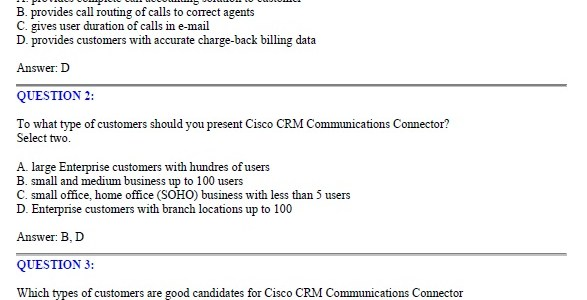 CCNA Exam 646-096 – CRS Express for Account Managers