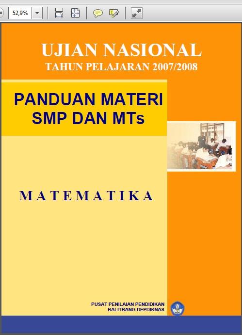 Panduan Ujian Nasional Smp Mts Bank Soal Ujian