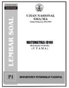 Soal uan sma ipa - matematika 2005