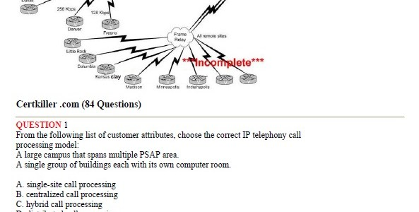 CCNA Exam 642-414 – IP Telephony Design Exam (IPTD)