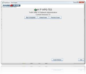 HP Exam HP0-703 exam engine