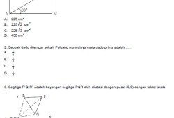 Soal Prediksi Ujian Nasional Matematika SMP 2007