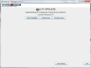 HP Exam Engine HP0-678
