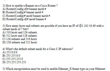 CCNA Sample Test Question and Answer 2