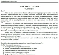 Soal bahasa Inggris SPMB 2000