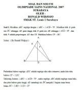 SOAL DAN SOLUSI OSN Matematika 2007