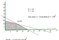 Soal Matematika IPS kelas XII (3 SMA) dan Cara Penyelesaiannya