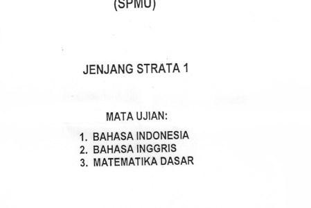Soal Seleksi Penerimaan Mahasiswa UNNES 2007