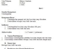 RPP Bahasa Mandarin SD/MI Kelas 1-6